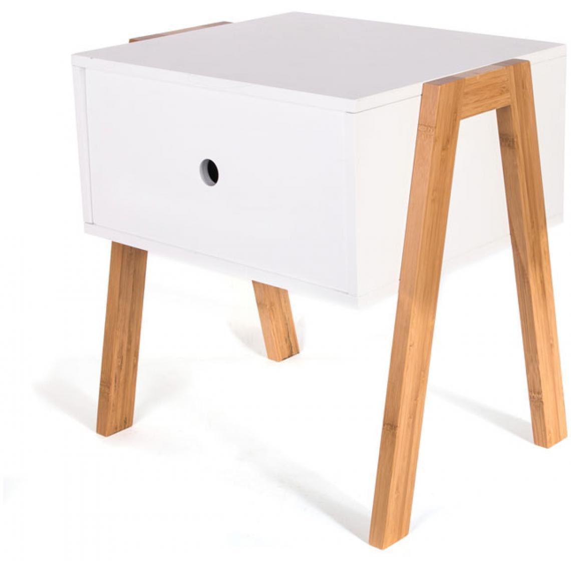 De Chevet Suisses Table Empilable Blanc Rolly3 NO8n0kXPw