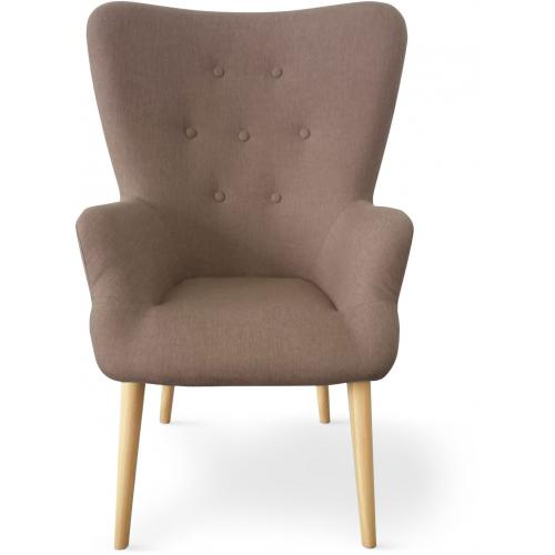 3S. x Home - Fauteuil Scandinave Taupe RIVKA - Soldes mobilier déco