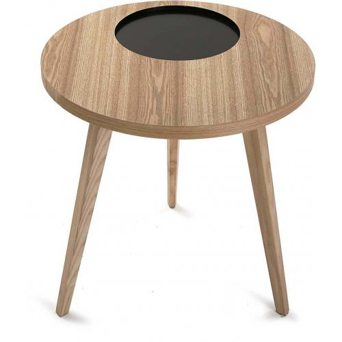 3S. x Home - Table D'Appoint En Bois Noir GOSAR - Table basse