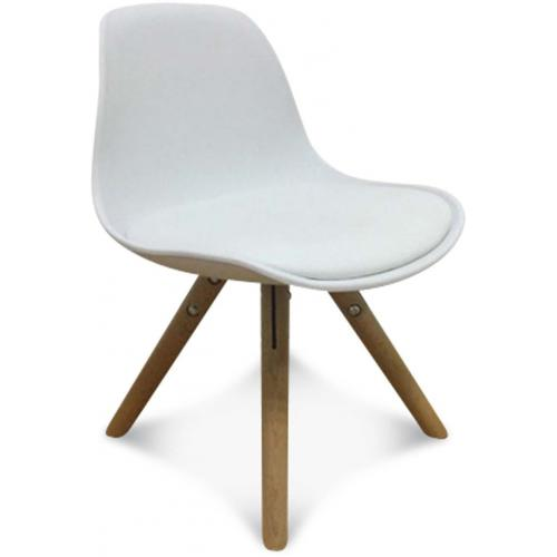 3S. x Home - Chaise Enfant Mini Scandinave Blanche ESBENO - Chaise