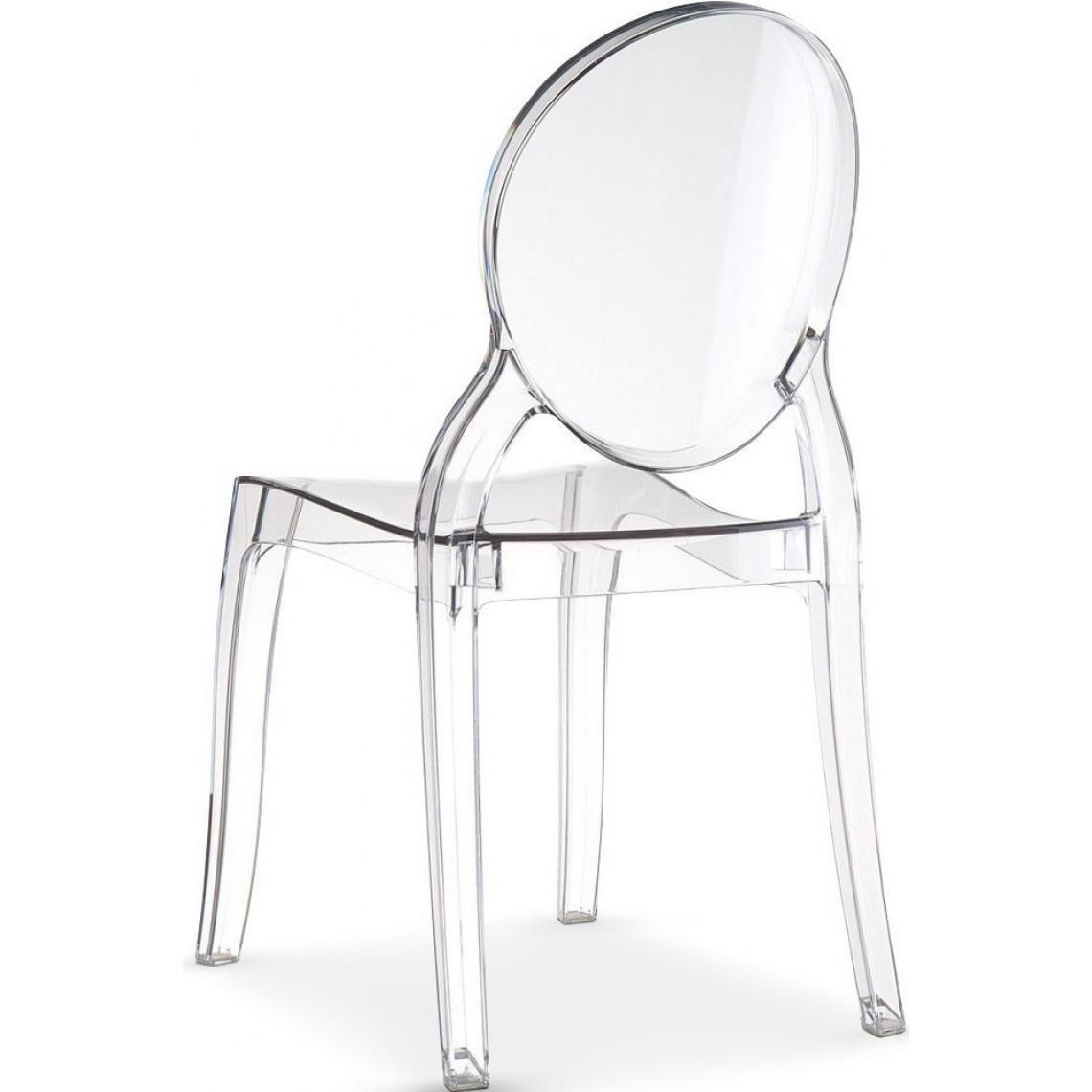 Lot de 4 chaises ELIZABETH Transparent Baroque XgtM1