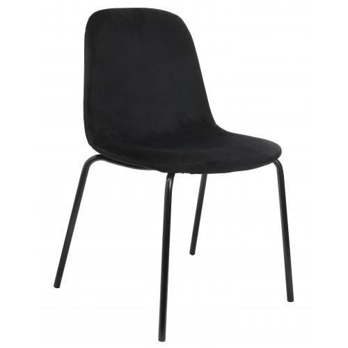 3S. x Home - Chaise En Velours Noir VELVITO - Chaise