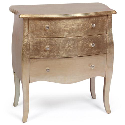 3S. x Home - Commode Bois Laqué Or Rose GETAFE - Commode