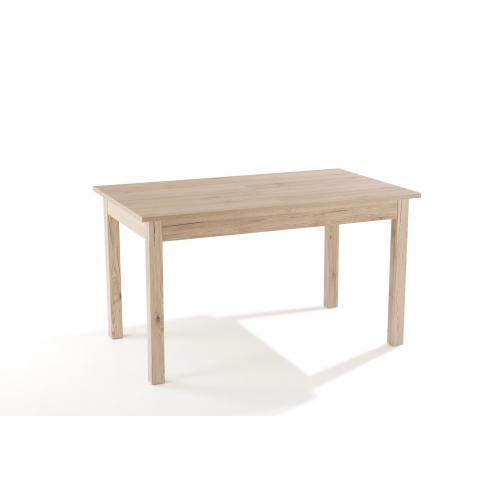 3S. x Home - Table à Manger Extensible 2 Rallonges Bois 137x80 HEATHER - Table extensible