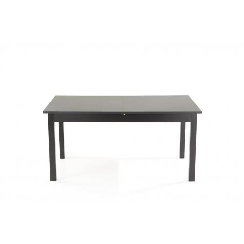 3S. x Home - Table à Manger Extensible 2 Rallonges Bois Noir 160x90 HEATHER - Table extensible