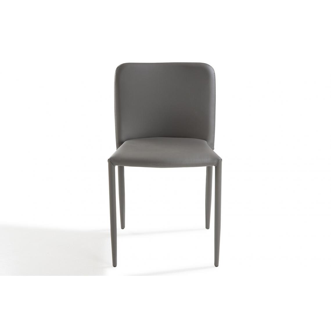 chaise design grise sergen 3suisses. Black Bedroom Furniture Sets. Home Design Ideas