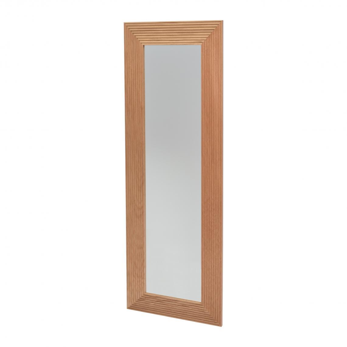 Miroir Rectangulaire Bois Chene Massif 120x30cm Kowy