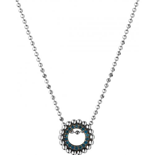 Links of London - Collier et pendentif Links of London 5020-3544 - Collier et pendentif Effervescence Blue Diamond Mini - Bijoux