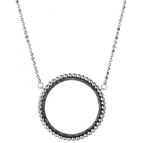 Links of London - Collier et pendentif Links of London 5020-3546 - Collier et pendentif Effervescence Blue Diamond Halo