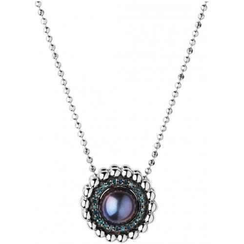 Links of London - Collier et pendentif Links of London 5020-3547 - Collier et pendentif Effervescence Blue Diamond et Perle