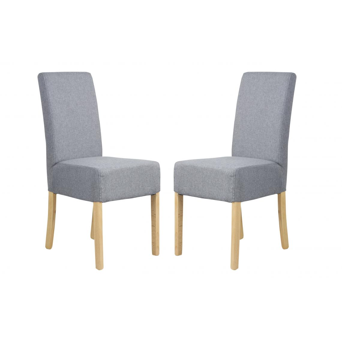 lot de 2 chaises dossiers hauts gris vino 3suisses. Black Bedroom Furniture Sets. Home Design Ideas