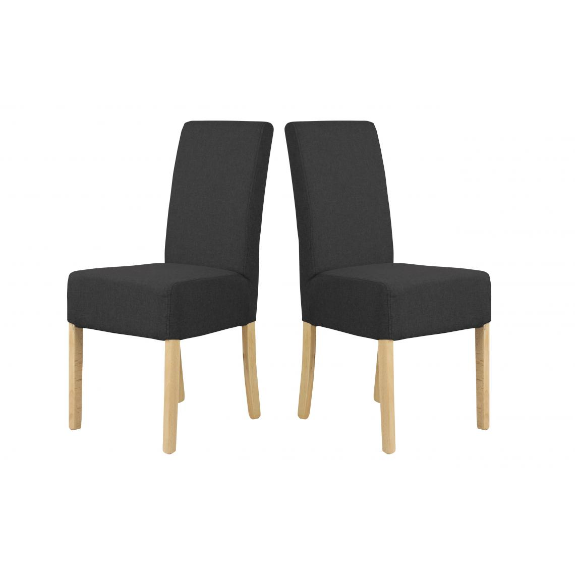 lot de 2 chaises dossiers hauts noir vino 3suisses. Black Bedroom Furniture Sets. Home Design Ideas