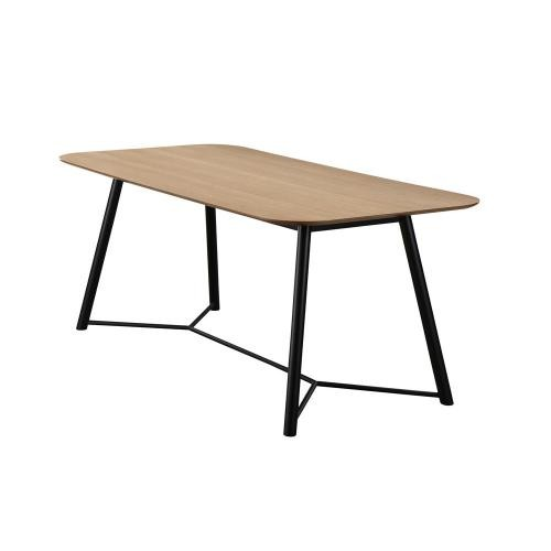 3S. x Home - Table à manger Bois Noir 180cm HOURN - Table