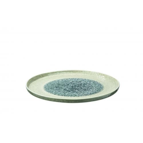 Pomax - Assiette Pr?sentation Porcelaine Gris LAGOA - Arts de la table