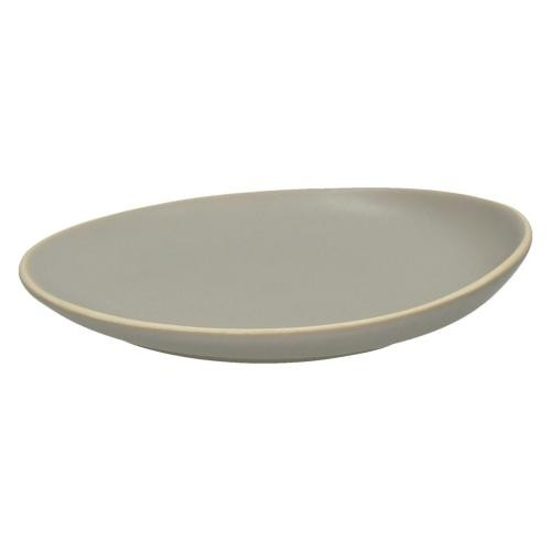 Pomax - Assiette Plate Fa?ence Gris PISE - Arts de la table