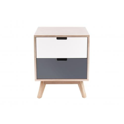3S. x Home - Table De Chevet Gris Beige SUEZ - Table de chevet