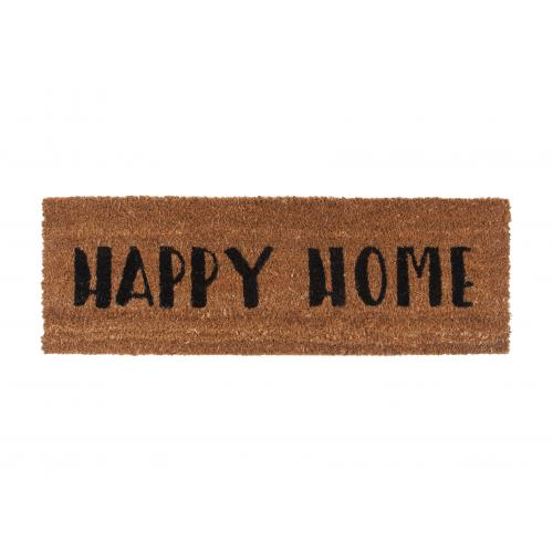 3S. x Home - Paillasson Fibres Coco Noir Happy Home DESSOUK - Paillasson