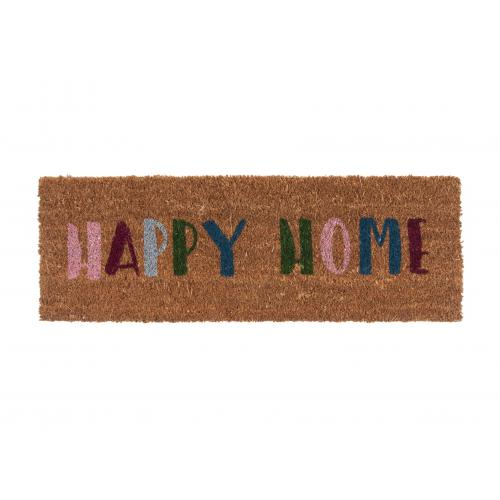 3S. x Home - Paillasson Fibres Coco Multicolore Happy Home DESSOUK - La déco