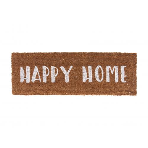 3S. x Home - Paillasson Fibres Coco Blanc Happy Home DESSOUK - La déco