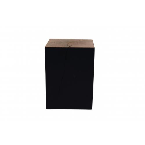 3 SUISSES - Table d\'Appoint Carrée En Acacia Noir SQUARE - Le salon