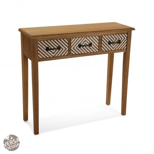 3S. x Home - Console 2 Tiroirs En Bois SYRENA - Coiffeuse