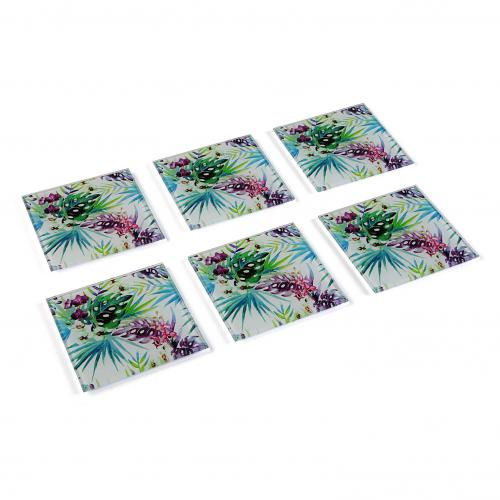 3S. x Home - Set 6 Dessous De Verre Tropical TROPIC - Meuble & Déco
