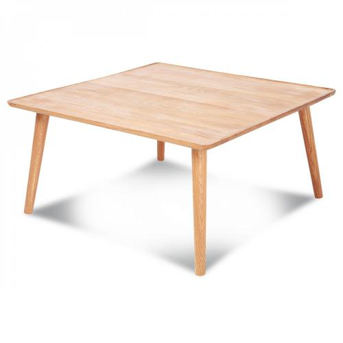 3S. x Home - Table Basse Carrée Chêne Massif VERITAS - Table basse