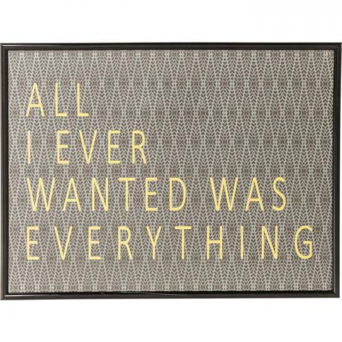 KARE DESIGN - Tableau Frame All I Ever Wanted LORI - Scandinave