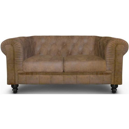 3S. x Home - Canapé 2 Places Chesterfield Vintage ANTONIANO - Meuble & Déco