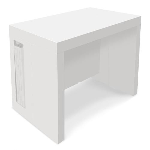 3S. x Home - Console Extensible Blanc Laqué MAYLINE - Console
