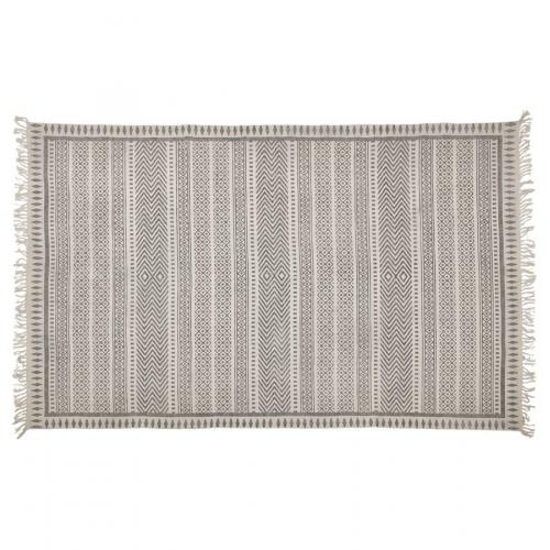 Tapis à Franges 160x230cm Coton Gris CAMBRIL 3Suisses Meuble & Déco