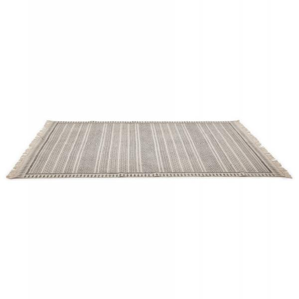 Tapis à Franges 160x230cm Coton Gris CAMBRIL 3Suisses