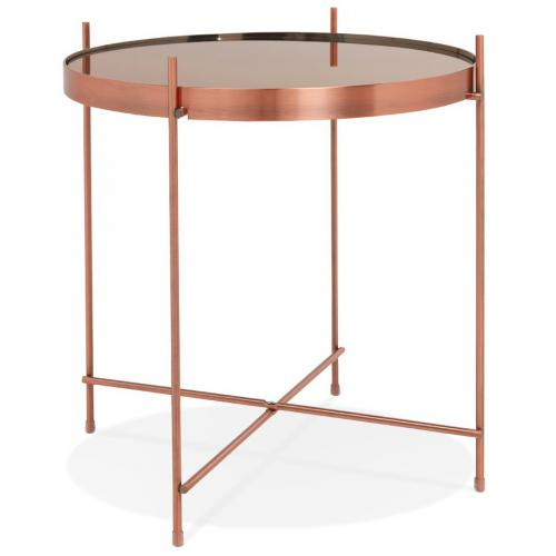3S. x Home - Table Basse Verre Cuivré VICTORY - Table basse