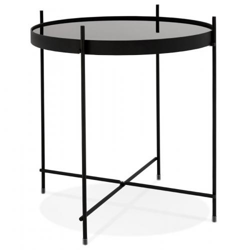 3S. x Home - Table Basse Verre Noir VICTORY - Table basse