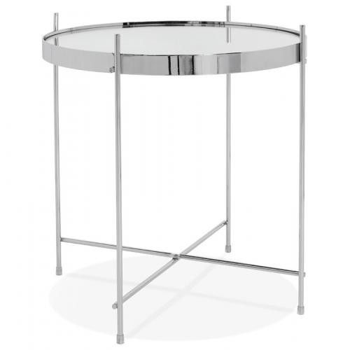 3 SUISSES - Table Basse Verre argenté VICTORY - Table basse