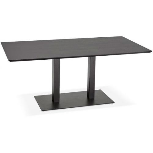3S. x Home - Table à Manger Rectangulaire Bois Noir KIWI - Table