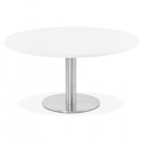 3 SUISSES - Table Basse Ronde Blanche BRUEL - Table basse