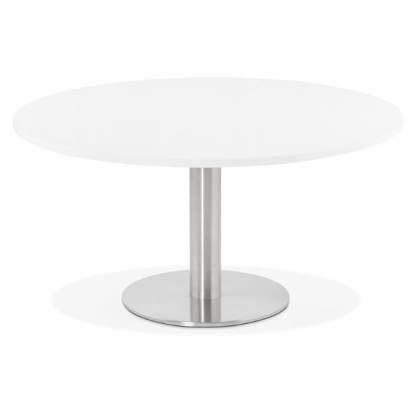 Table Basse Ronde Blanche Pravia