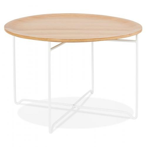 3S. x Home - Table Basse au Plateau Bois Clair ZIGGY - Table basse