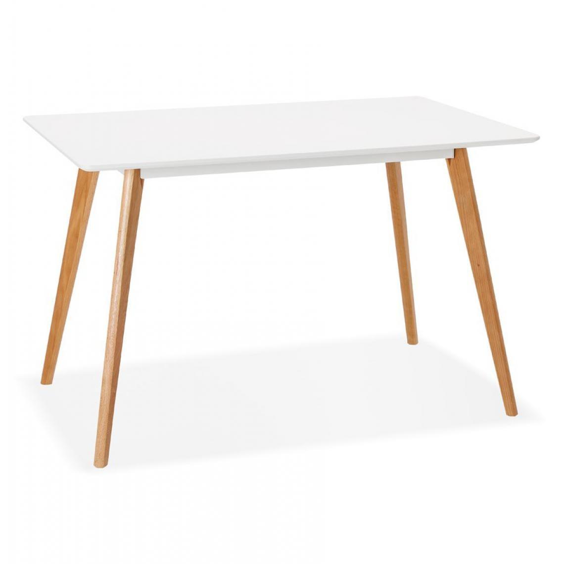 Table À Manger Nordique table à manger scandinave bois blanc cladie plus de détails