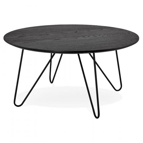 3S. x Home - Table Basse Bois Noir FONTARA - Table basse