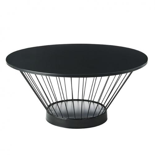 3S. x Home - Table Basse Ronde Noir ANITA - Table