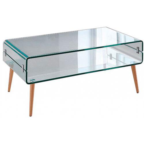 3 SUISSES - Table Basse Verre Bois LOONA - Le salon
