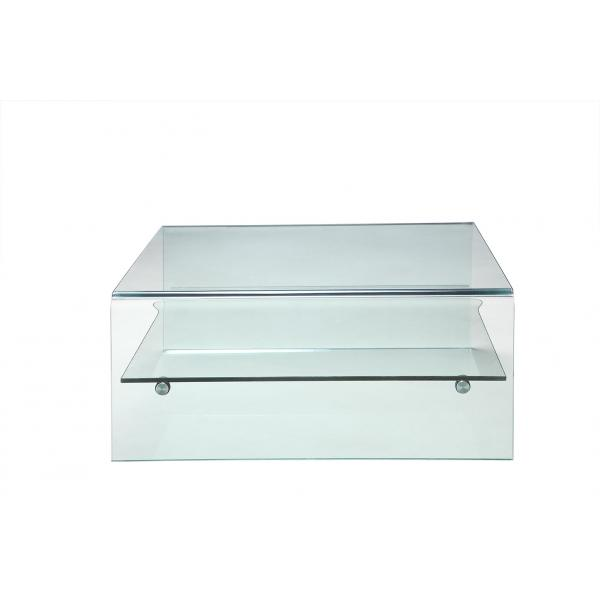 Table Basse Verre GLASSY 3 SUISSES