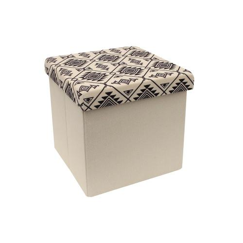 3S. x Home - Coffre Pouf Pliable Ethnique KIGALI - Le salon