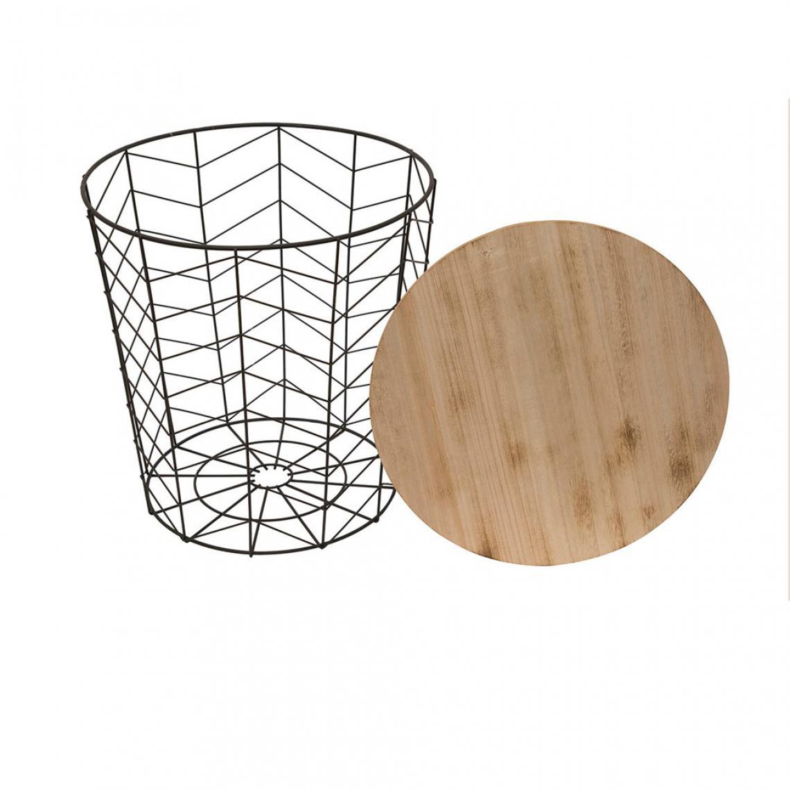 table basse filaire m tal noir vibes 3 suisses. Black Bedroom Furniture Sets. Home Design Ideas