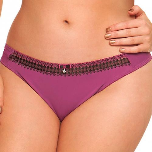 Curvy Kate - String Curvy Kate GIA boysenberry/noir - Promotions Sous-vêtements femme