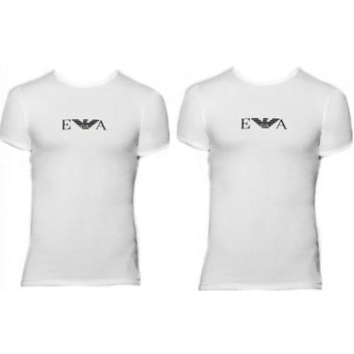 Emporio Armani Underwear - PACK 2 TEE SHIRTS COL ROND - Manches Courtes Moulant - T-shirt / Polo