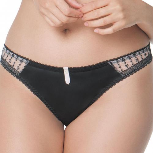 Curvy Kate - String Curvy Kate Showgirl BELLE black blush - Tangas, strings