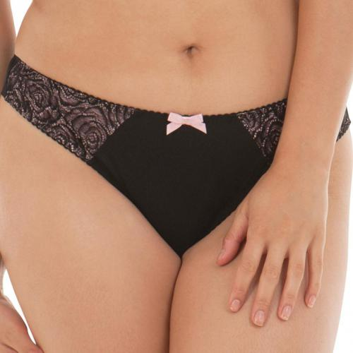 Curvy Kate - Slip brésilien Curvy Kate Showgirl CAN CAN noir rose pâle - Promotions